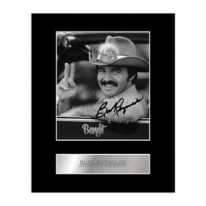 Burt Reynolds Signed Mounted Photo Display Smokey and The Bandit
