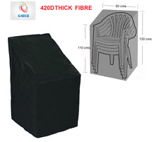 Waterproof Heavy Duty 420d Garden Patio Furniture Stacking Chair Cover Protector