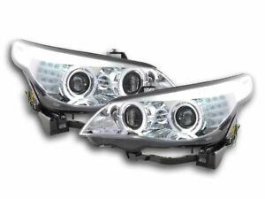 Fari Angel Eyes LED xeno BMW serie 5 E60/E61 ac 05-08