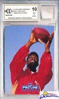 1991 Pro Line Portraits #201 Jerry Rice Hidden Treasures+GU Jersey BECKETT 10 MT