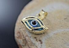 Evil Eye Charm Real 14k Gold Chain All Seeing Eye Pendant Mal de Ojo Dije Oro