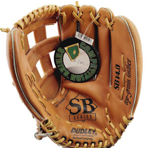 """Dudley SB14 Competition Series RHT 14"""" Leather Softball Glove"""