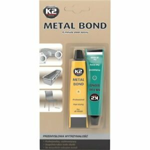K2 Metall 2-K Bond Kaltmetall Kleber Epoxy Flüssigmetall Metallkleber 56g