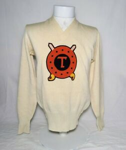 Vintage 1950s Tennessee Buccaneers Varsity Letterman Sweater HL Whiting Size S