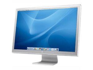 "Apple CInema Display 20"" LCD MONITOR A1081 SIlver DUal USB FIREWIRE DVI"