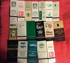 LOT OF 18 VINTAGE MATCHBOOK COVERS GOLF COUNTRY CLUBS RESORT