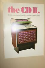 Original Rowe CD-11 = CMM-4 Cadette 2 1971 juke box jukebox Flyer Brochure