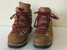 Dexter Mens Mountaineering Hiking Work Boots Tan Brown Suede Lace Vintage Sz 10M