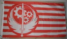 Fallout Brotherhood of Steel 3' x 5' red white Flag Banner - USA seller Shipper