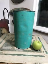 VINTAGE HANDMADE TIN MAPLE SYRUP COLLECTION BUCKET, GREAT COLOR