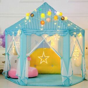 Play Tent Princess Castle Play House  (BLUE), Portable, Lights Not Included