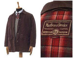 Mens MARLBORO Classics Coat Jacket Brown Size L