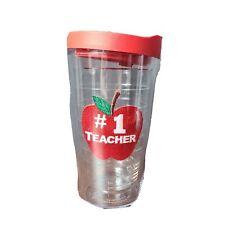 Tervis Tumblr 16 Ounce #1 Teacher Apple Red Lid
