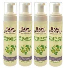 4x RAW ESSENTIALS Refreshing FACE WASH 115° Keeps Your Skin ALIVE Paraben Free
