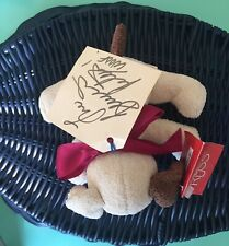 Bernadette Peters Signed  Stuffed Animal Tag Broadway Barks Russ Brand Excellent