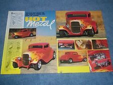 "1932 Ford 3-Window Coupe Street Rod Article ""Hot Metal"" Boyd Coddington Built"