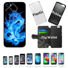 Custom Case for iPhone 6S 7 7 Plus+Galaxy S6 S7+STYLUS-Ultimate Blue Fire Dragon
