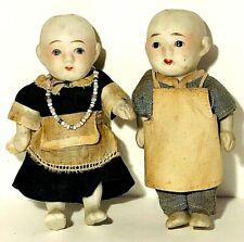 Antique Man & Woman Porcelain Dolls