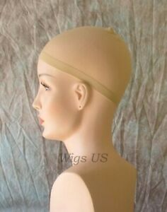 Light Blonde 2 Pack Wig Caps Stocking Hat Nylon Stretch Elastic Snood Under Wigs