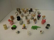 Puppy in My Pocket Lot w/Other Flocked Animals - Lot S