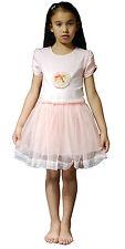 NUEVO Niña Vestidos de fiesta en Rosa Blanco 5 6 7 8 9 10 11 Años