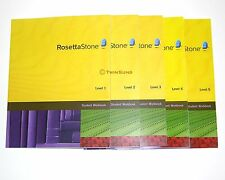 ROSETTA STONE WORKBOOKS HOMESCHOOL SPANISH LA 1 2 3 4 5
