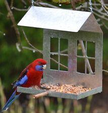 Hanging Wild Bird Feeder Galvanised - NEW
