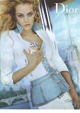 PUBLICITE  ADVERTISING 2008  DIOR  cosmétiques la jeune fille en bleu