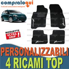 TAPPETINI PER FIAT GRANDE PUNTO 2012 in MOQUETTE SU MISURA + 4 RICAMI TOP