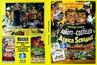 Blu-Ray AFRICA SCREAMS Abbott & Costello WIDESCREEN COLOR B&W 3-D film Bloopers