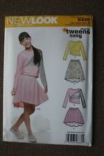 New Look Sewing Pattern Girl's Top and Skirt Size 8-10-12-14-16
