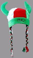 International Soccer World Cup Italy Plush Novelty Viking Cap Hat  ITALIA