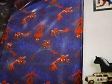 Marvel Spider-man Tab Top Sheer Single Curtain BNIP 140cm x 213cm blue