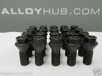 BRAND NEW BMW Z3 E36 BLACK COATED ALLOY WHEEL BOLTS (X20) NUTS