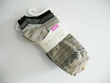 Gold Toe Womens 4 Pk European Cafe Crew Socks 5786F Asst Sz 9-11 - New