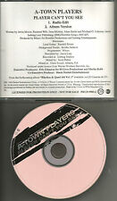 A-TOWN PLAYERS Player Can't you see w/ RADIO EDIT PROMO DJ CD single A town 1996