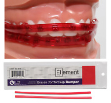 ELEMENT BRACES COMFORT LIP BUMPER (RED) MOUTH GUARD FOR BRACES ORTHODONTIC