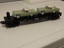 MTH Rail King 30-7613 Auto Transport Flat Car w/ T'Birds