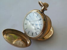 CLEANED & SERVICED 1883 WALTHAM 14K SOLID GOLD HC POCKET WATCH
