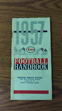 1957 Esso Oil Company Football Handbook/Schedules Booklet ~ Great Condition (A1)