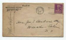 SKYLAND HOTEL Hendersonville NC to Winston-Salem NC 5/1/1940 Burbank 876