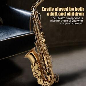 Alt Saxophon Eb Saxofon Saxophone Sax Set mit Mundstück Zubehör Koffer DR 09