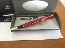Parker Duofold  Centennial Red Marble Fountain pen New Old Stock