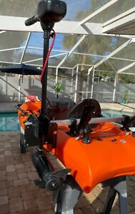 """(BATTERY INCLUDED) Lifetime 10'6"""" Customized Fishing Tandem Kayak with elc motor"""