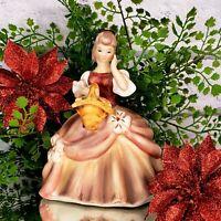 Vintage Lady Victorian Ball Gown Bisque Ceramic Figurine Little Women Style CMAS