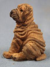 Shar pei figur hund  hundefigur faltenhund figura figure castagna