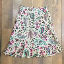 Gorgeous East 5th Petite Linen Blend Skirt Fully Lined Side Zip Washable Size 6P