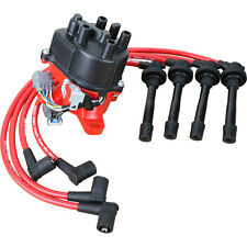 High Performance Ignition Distributor and Wires For 1992-1995 Honda Civic Vtec