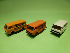 HERPA 3x VW VOLKWAGEN LT BUS - 1:87 HO - VERY GOOD CONDITION