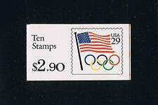 US BK186 (1991) - Flag with Olympic Rings Booklet Issue - Plate #K11111